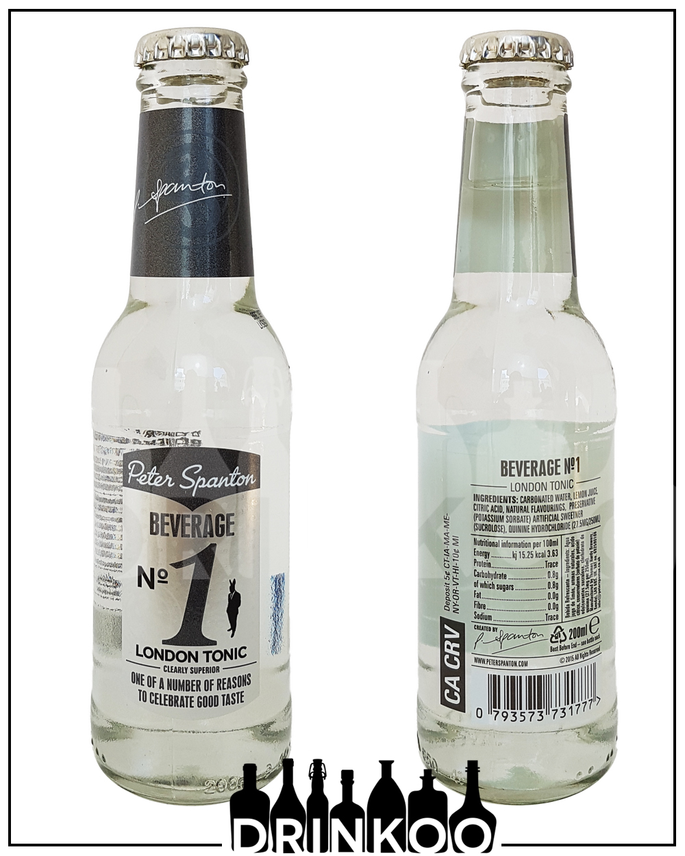 Peter Spanton Beverage No1 London Tonic Water