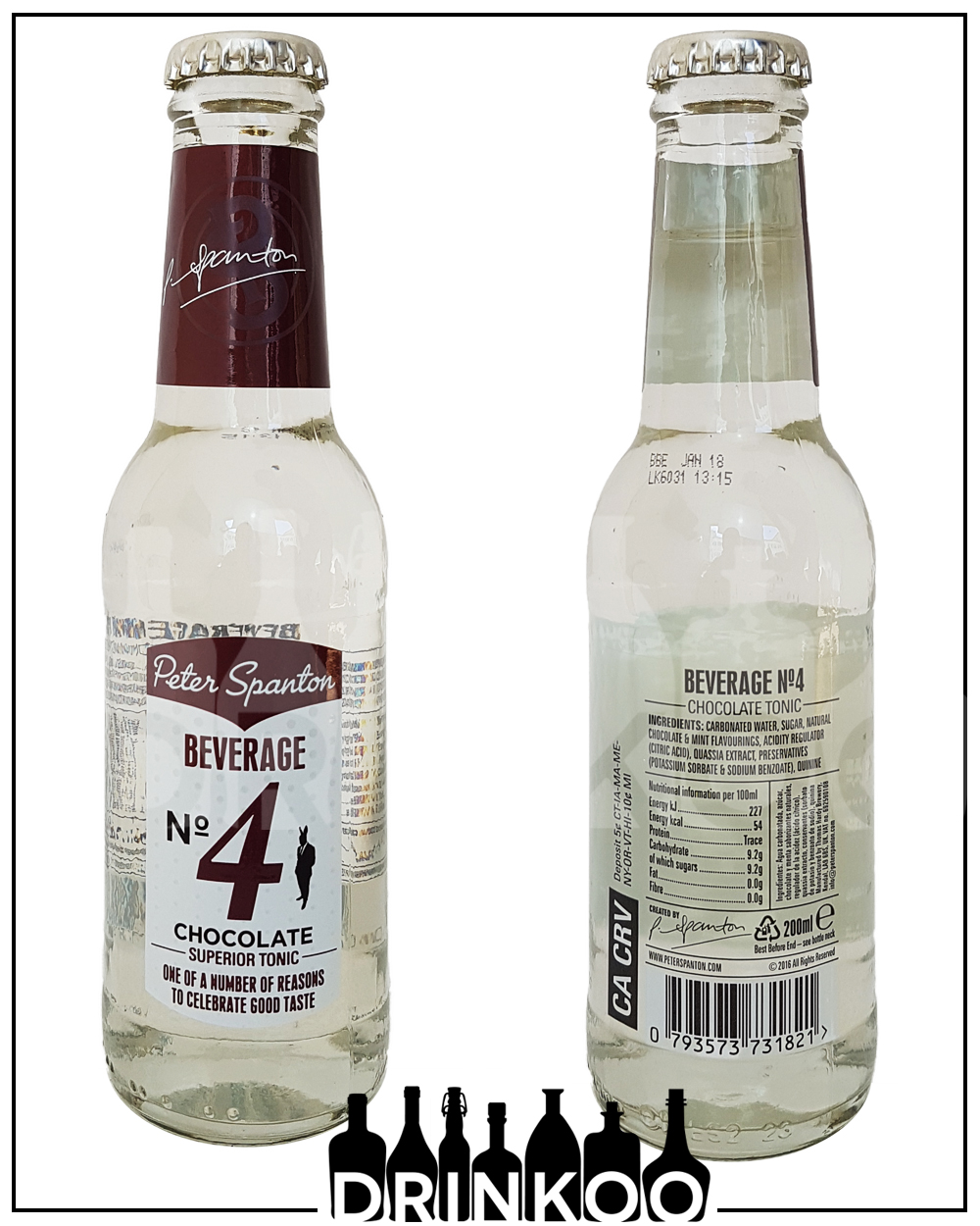 Peter Spanton Beverage No 4 Chocolate Tonic Water