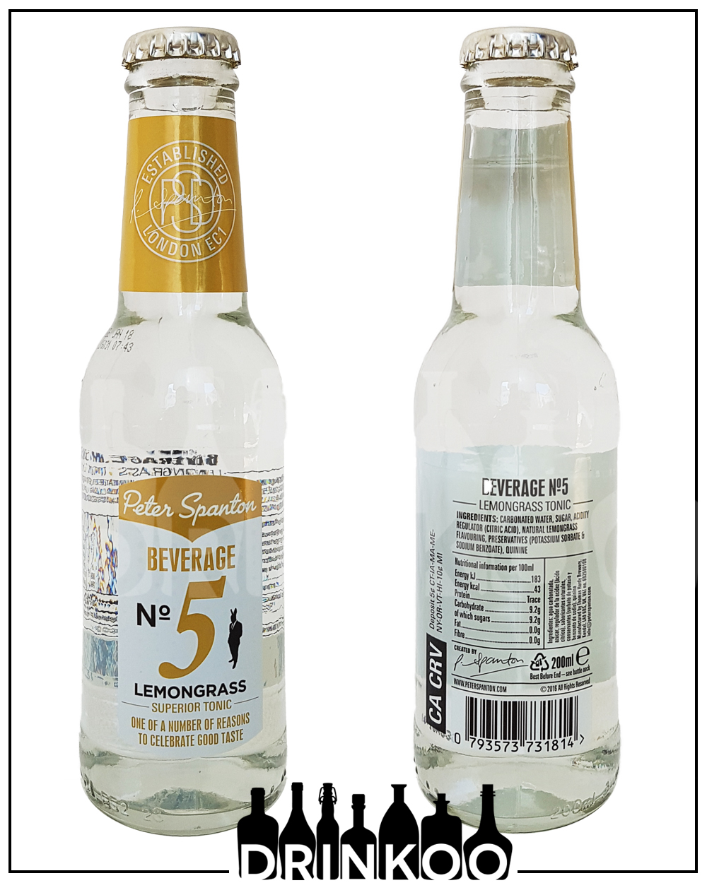 Peter Spanton Beverage No 5 Lemongrass Tonic Water