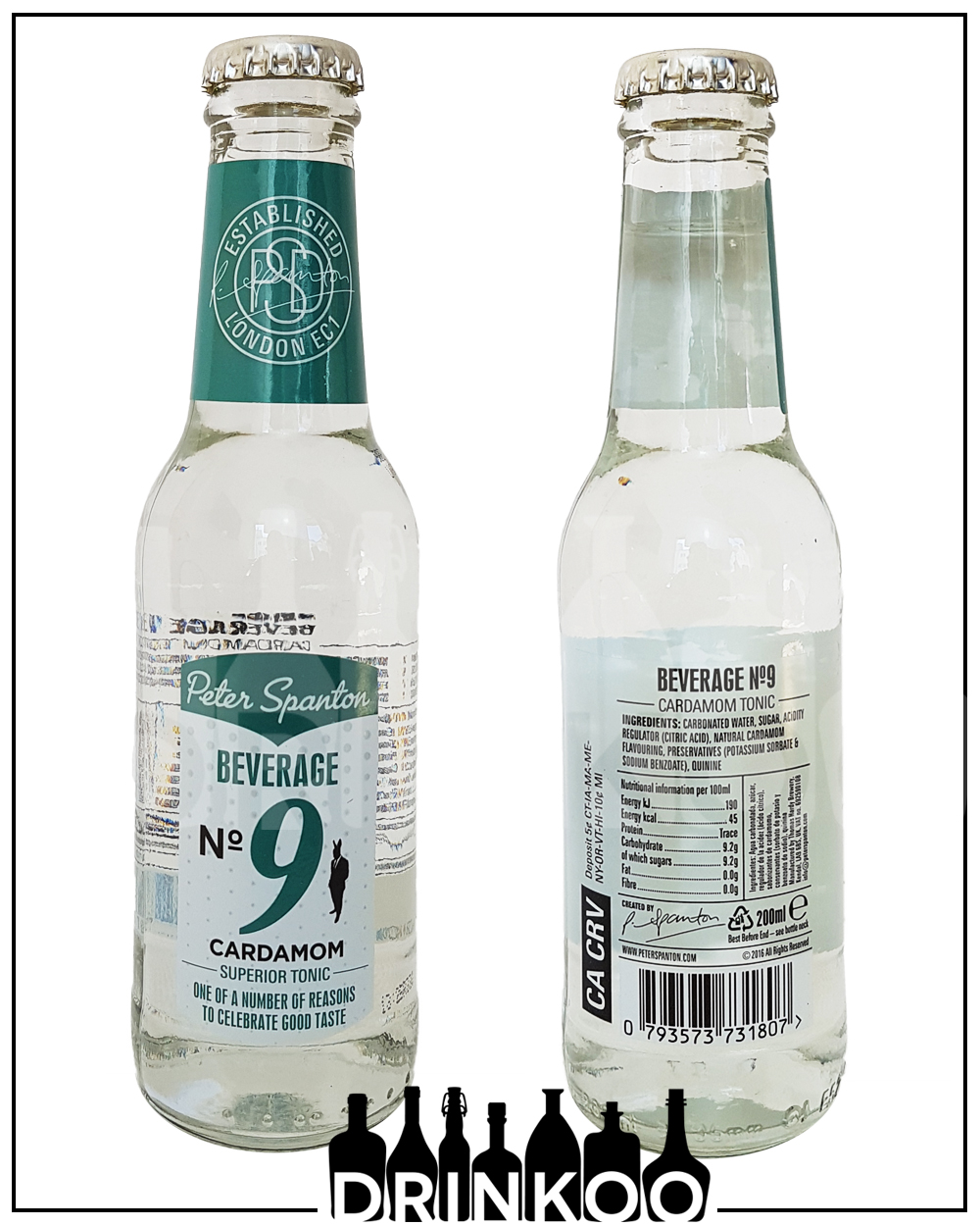 Peter Spanton Beverage No9 Cardamom Tonic Water