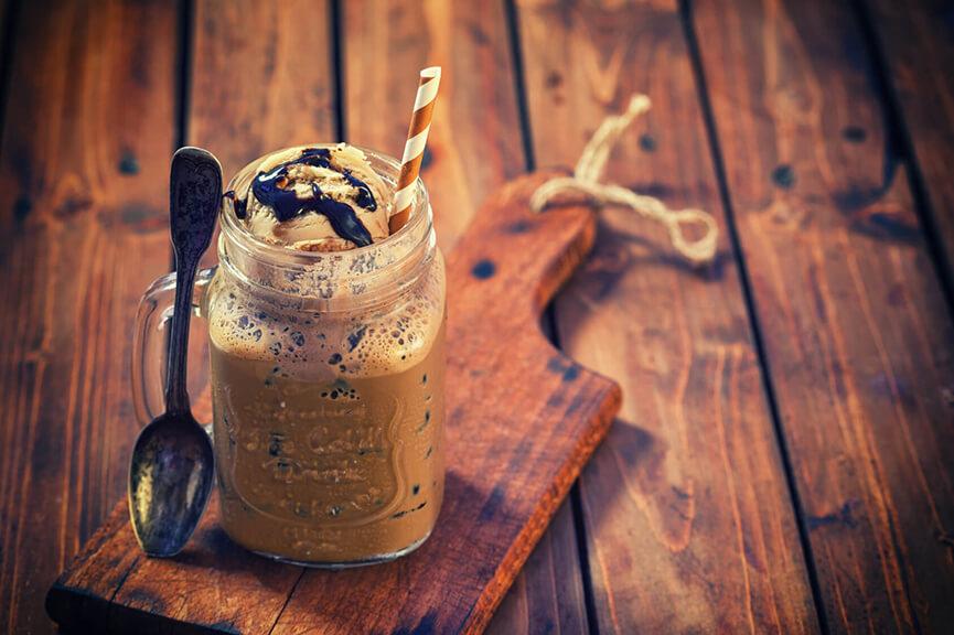 Eiskaffee kreativ