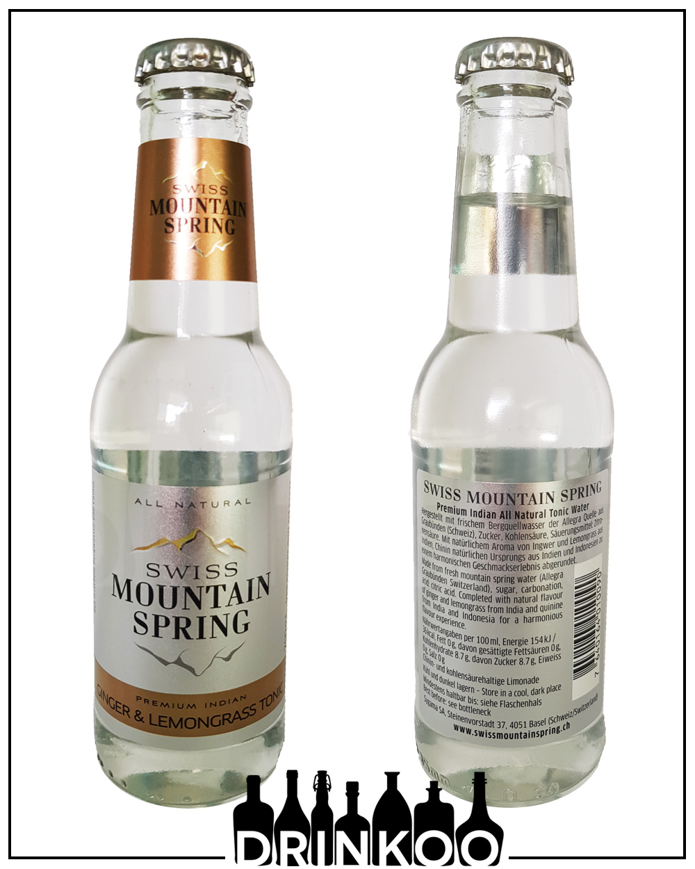 Swiss Mountain Spring Ginger & Lemongrass Tonic