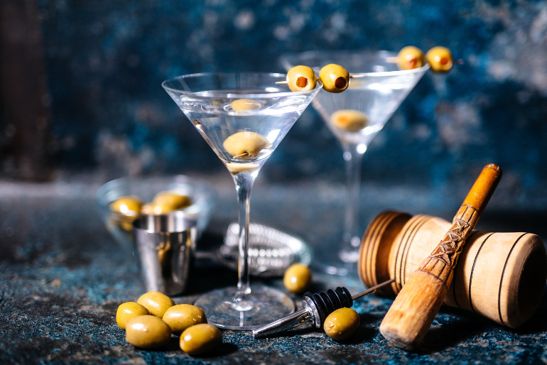Leckere Dry Martini Cocktails