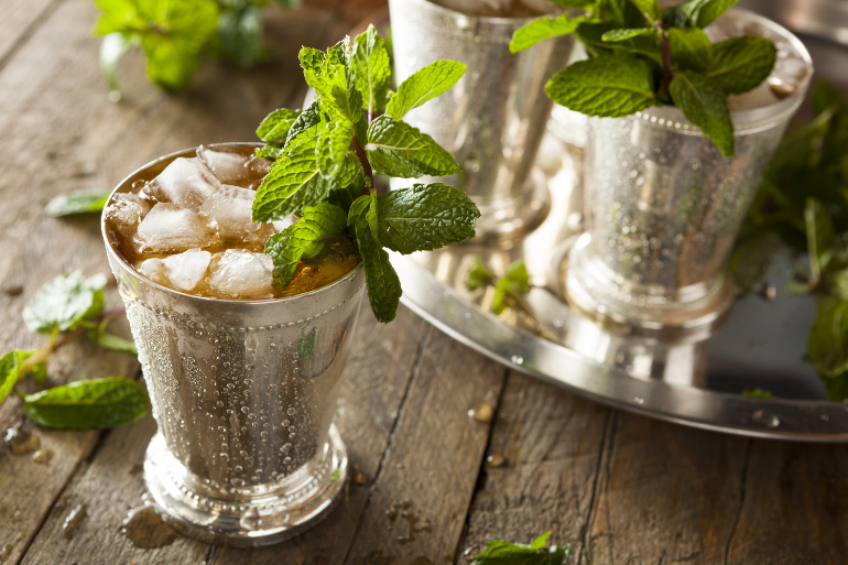 Leckerer Mint Julep Cocktail