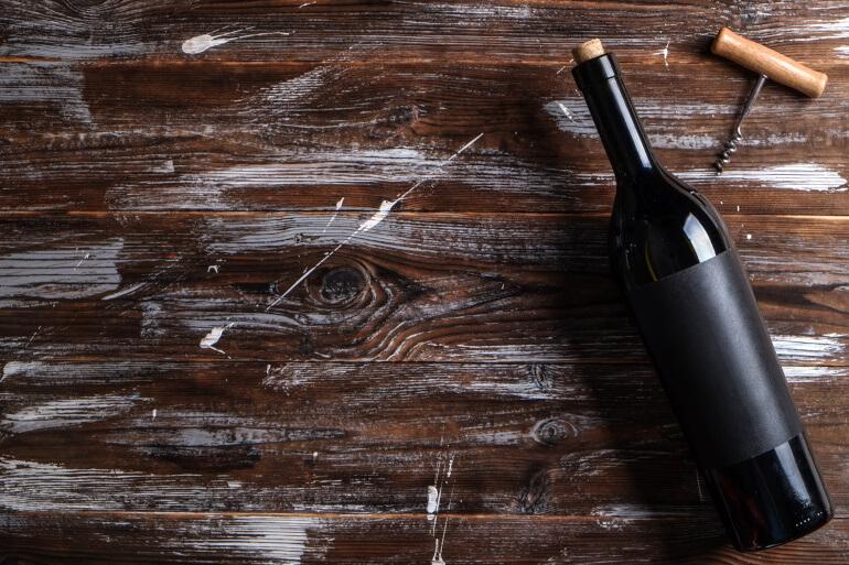 Pinot Noir Weinflasche