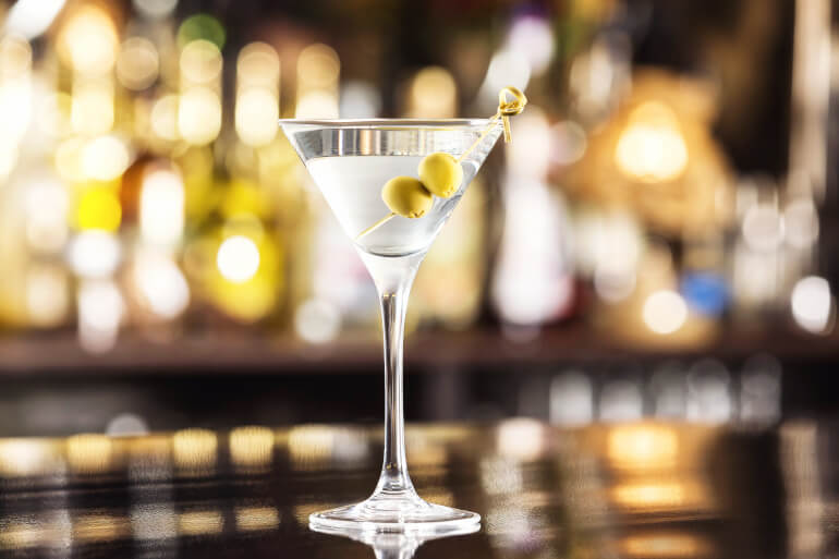 Vermouth in Martini Cocktail