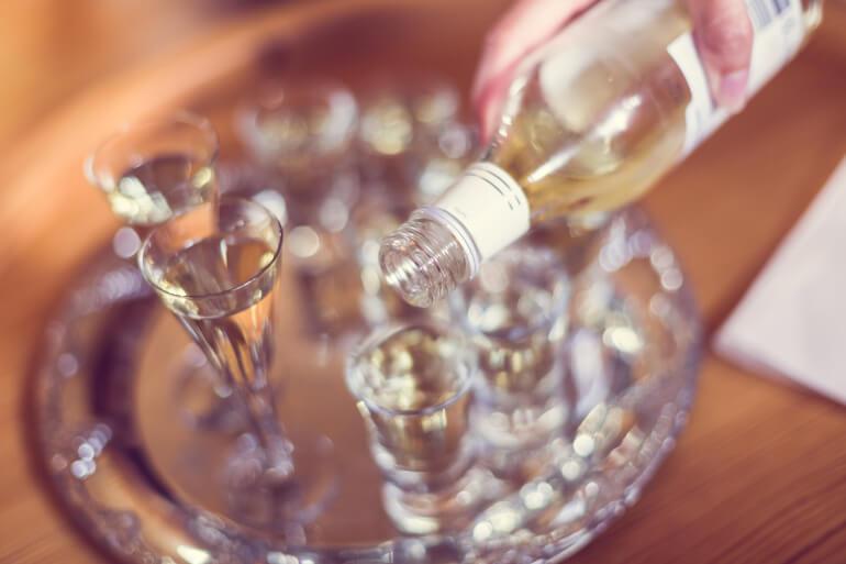 Aquavit im Schnapsglas